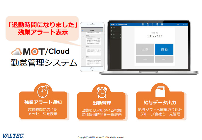 『MOT/Cloud勤怠管理 資料』