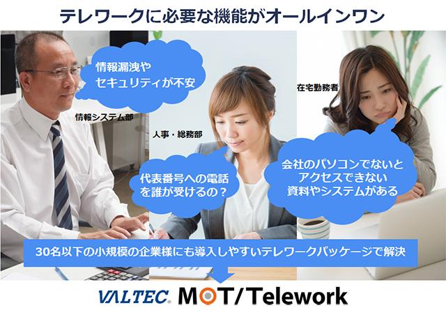 テレワークに必要な機能がオールインワン「MOT/Telework」製品資料