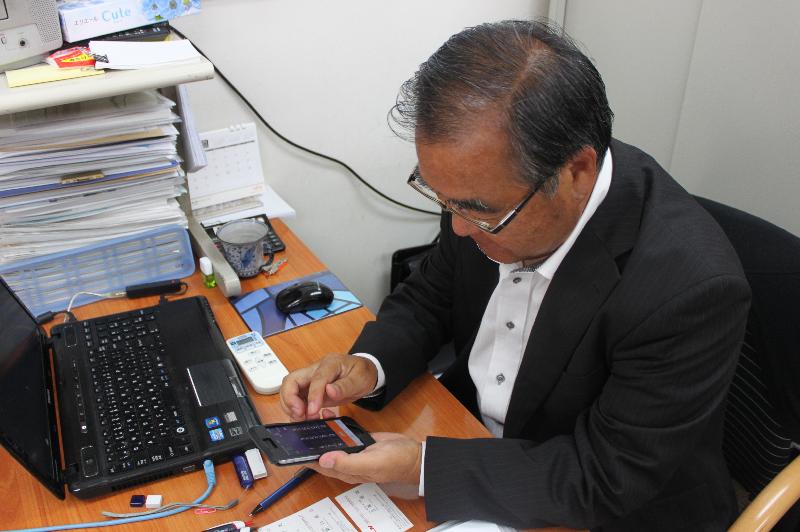 MOT/Phoneを利用中の代表取締役社長 寺口 謙一 様