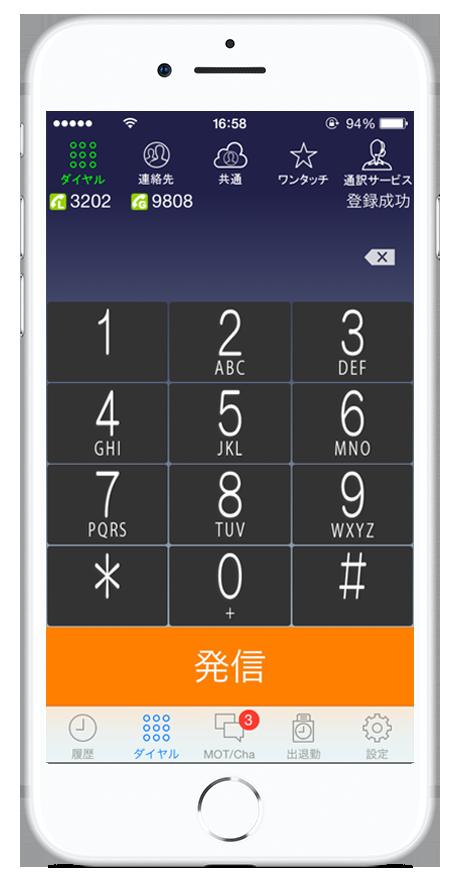 スマートフォンが多機能ビジネスフォンになるアプリMOT/Phone