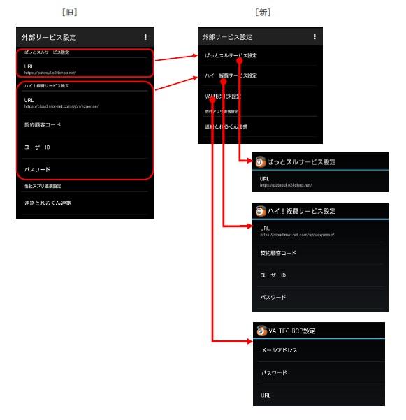 MOT/Phone android版レイアウト変更