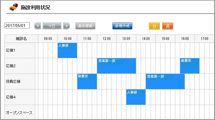 クラウドPBX iPad受付システム「施設予約」